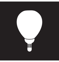 Flat icon in black and white style air balloon vector