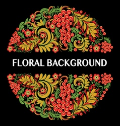 Floral background in ethnic style vector