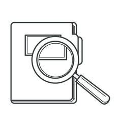 folder with document files and magnifying glass vector image