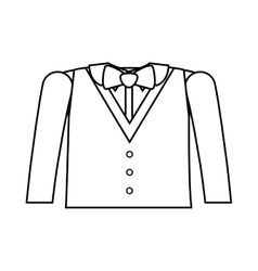 Formal suit silhouette with bowtie vector