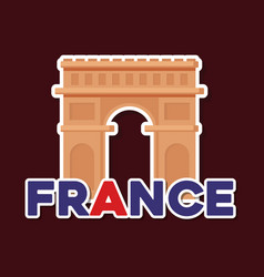 France culture card with arch of triumph vector