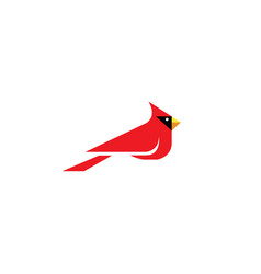Geometric cardinal bird logo vector