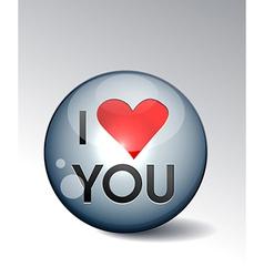 I love you button vector