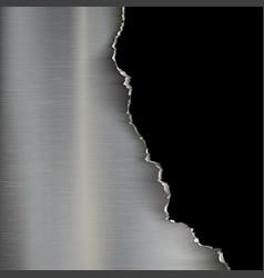 industrial background torn metal vector image