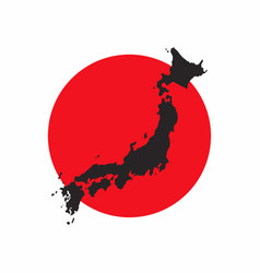 japan map on white background vector image