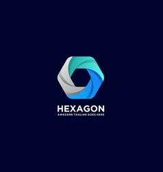 logo hexagon gradient colorful style vector image