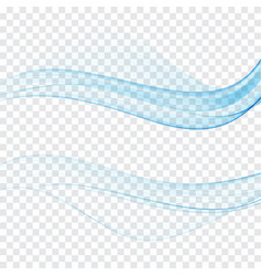 modern abstract transparent futuristic web swoosh vector image
