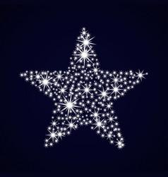 Night sky with sparkle star vector