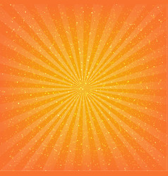 orange sunburst background vector image