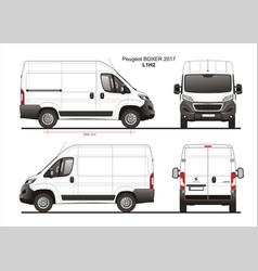 Peugeot boxer cargo delivery van 2017 l1h2 vector