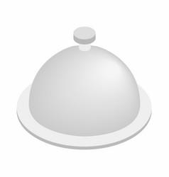 Restaurant cloche isometric 3d icon vector image