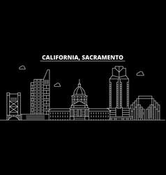 sacramento silhouette skyline usa - sacramento vector image