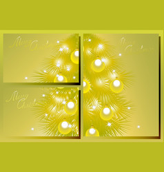 set of golden christmas cards eps10 vector image