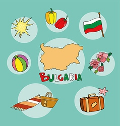 set of national profile of the bulgaria vector image