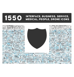 Shield Icon and More Interface Business Tools vector image