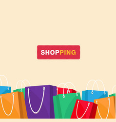 shopping colorful shopping bag background i vector image