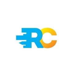 Sign of the letter R and C vector image