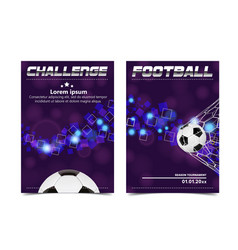 Soccer poster football ball design for vector