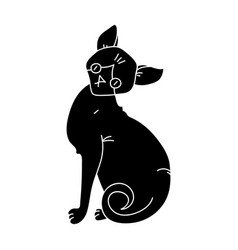 Sphynx icon in black style isolated on white vector