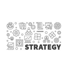 strategy or banner in thin vector image
