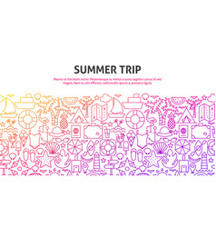 summer trip concept vector image