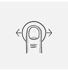Touch screen gesture sketch icon vector