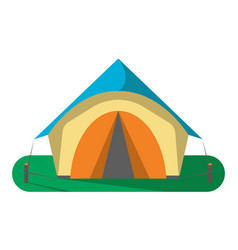 tourist camp tent icon isolated vector image