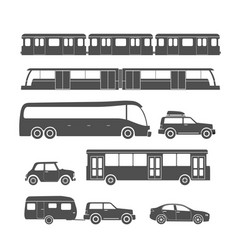 urban vehicle collection isolated on white vector image