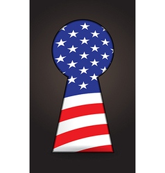 US flag keyhole vector image