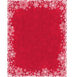 Wooden red christmas background with frame vector