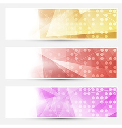 Abstract crystal dotted cards collection vector image vector image