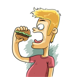 burger time vector image vector image