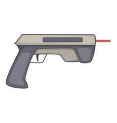 Laser beam pistol icon cartoon style vector