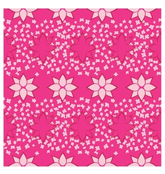 Pink flowers seamless pattern vector image