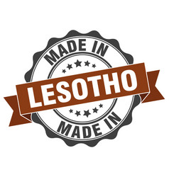 Made in lesotho round seal vector