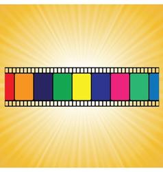 old film strip vector image vector image
