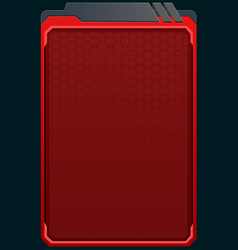 red futuristic background vector image vector image