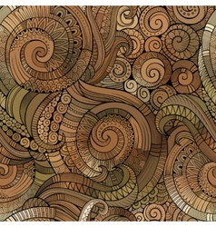spiral decorative doodles seamless pattern vector image