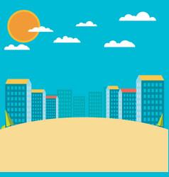 urban landscape flat design vector image vector image