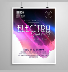 club party event layout flyer brochure template vector image vector image