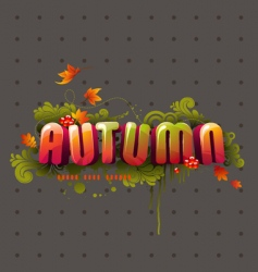 colorful 3d autumn headline vector image vector image