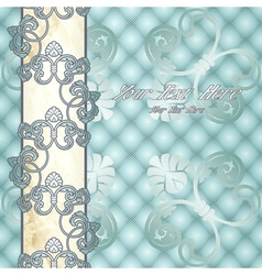 Elegant pale blue Rococo background vector image