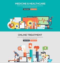 Flat design concept banner Medical vector image vector image