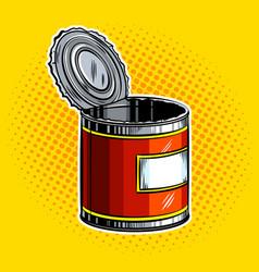 Open tincan pop art vector