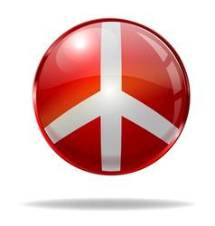 peace button vector image vector image