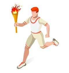 Torchbearer 2016 Sports 3D Isometric vector image vector image
