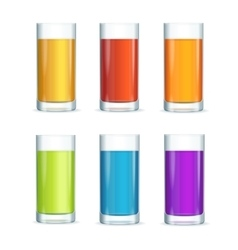 Colorful Cocktail Glasses Set vector image