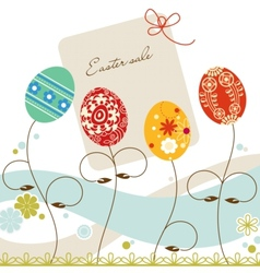 easter sale vector image vector image
