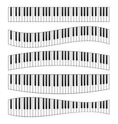 piano keyboard image set vector image