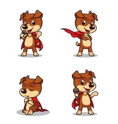 Superhero Puppy Dog 01 vector image vector image